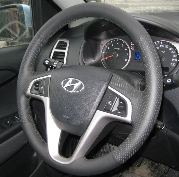 Кожа рулит Hyundai i20