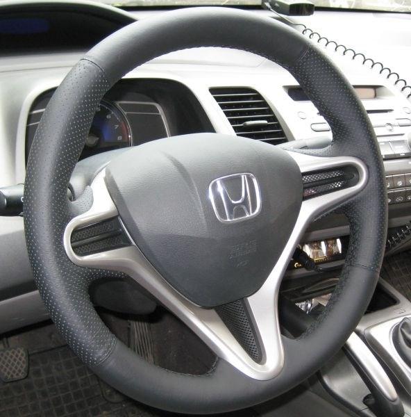 Кожа рулит Хонда Цивик