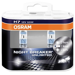 Автолампы  H7 12V 55W (PX26d) NIGHT BREAKER UNLIMITED + 110%