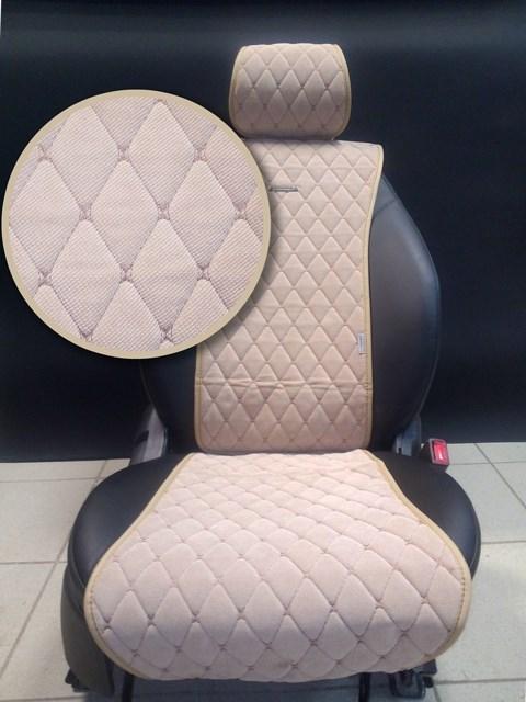Бежевые накидки BULLET на 2 передних сидения - фото