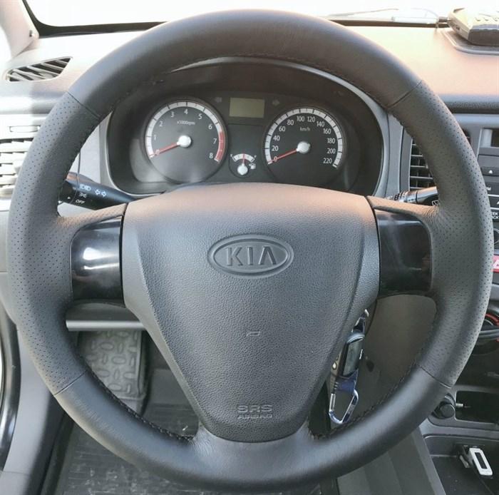 Оплетка на руль из натуральной кожи Hyundai Verna II 2005-2010 - фото 10821