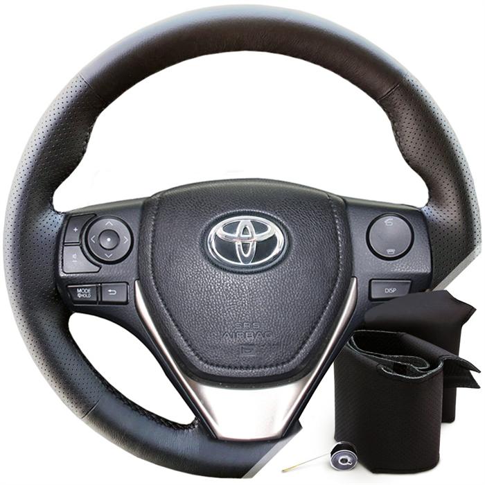 Оплетка на руле Тойота Рав 4 с 2013 г.в. - фото