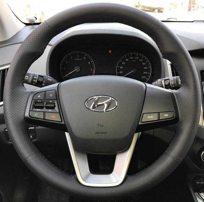 Оплетка на руль из натуральной кожи Hyundai ix25 2014 - н.в. - фото 10876
