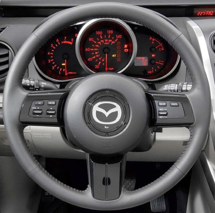 Оплетка на руль из натуральной кожи Mazda CX-7 I 2006-2009 - фото 10931