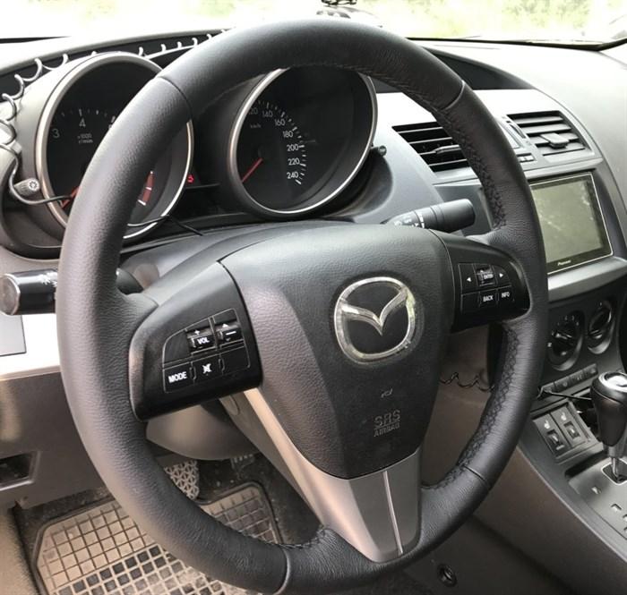 Оплетка на руль из натуральной кожи Mazda CX-7 2009-2012 - фото 10945