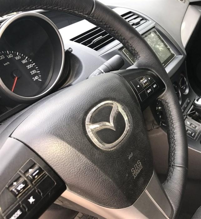 Оплетка на руль из натуральной кожи Mazda CX-7 2009-2012 - фото 10946