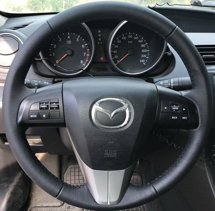 Оплетка на руль из натуральной кожи Mazda 5 II (CW) 2010-2015 - фото 10947