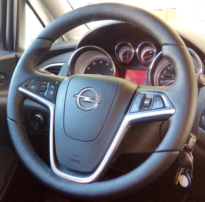 Оплетка на руль из натуральной кожи Opel Meriva B 2010-2017 - фото 10972