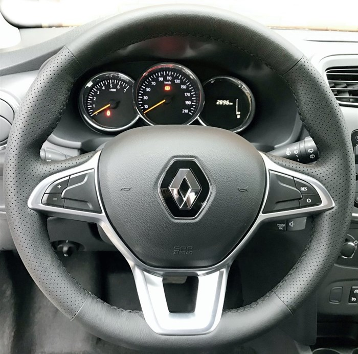 Оплетка на руль из натуральной кожи Renault Logan II (2018-н.в.) - фото 10982