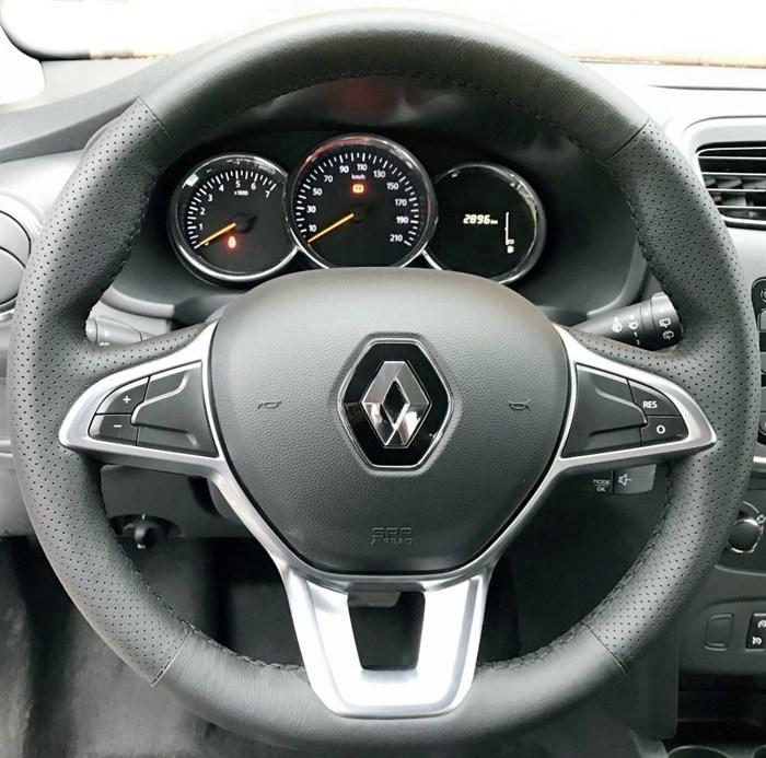Оплетка на руль из натуральной кожи Renault Sandero II (2018-н.в.) - фото 10987