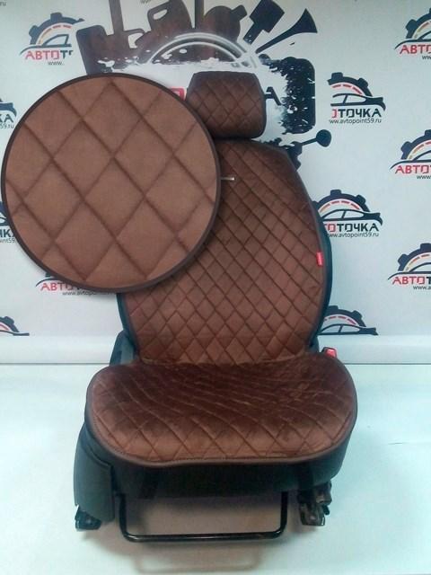 коричневые накидки CALIFORNIA на 2 передних сидения - фото