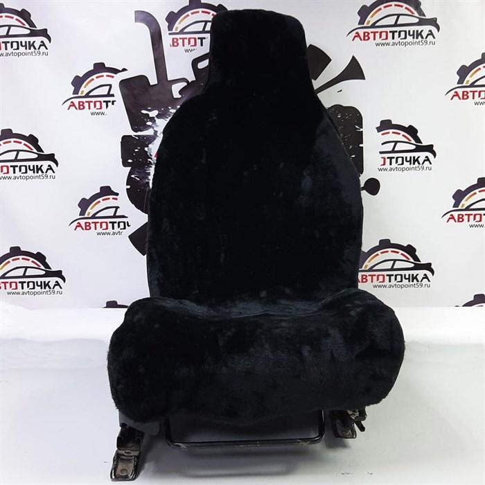 Черные меховые накидки на 2 места - фото 14876