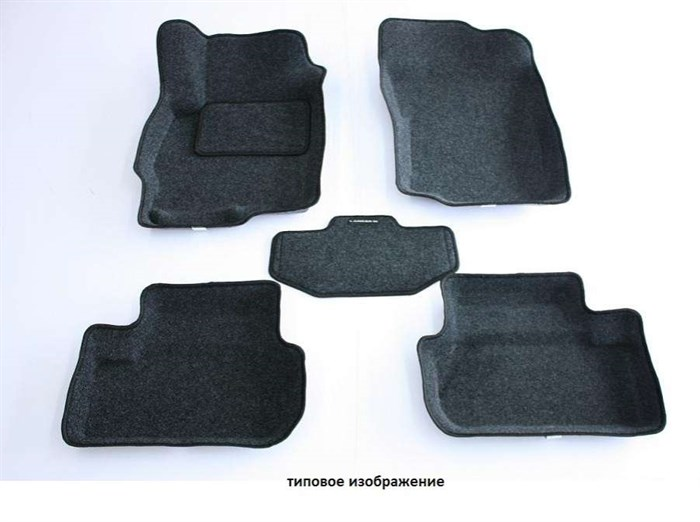 Ворсовые коврики 3D для Тойота Камри XV 70 - фото