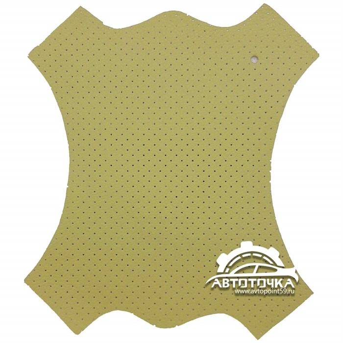 фото перфорированной экокожи Altona цвет песочный 2169