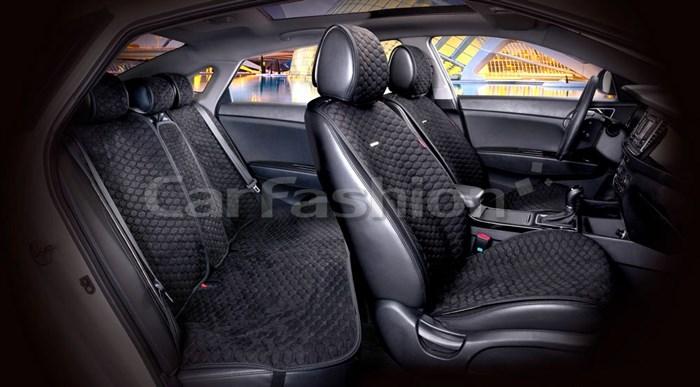 Комплект черных накидок на сиденья CAPRI PRO PLUS - фото