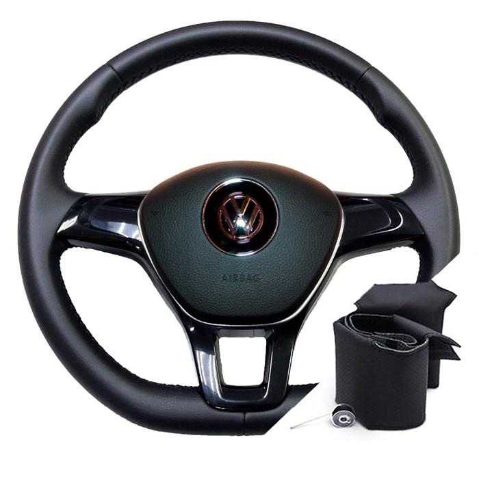 Оплетка на руле Фольксваген Поло до 2015-2020 г.в. - фото