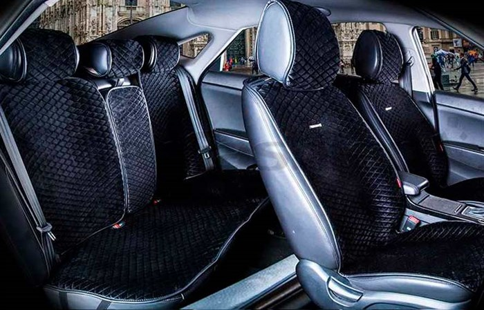 Комплект черных накидок на сиденья CITY PLUS - фото