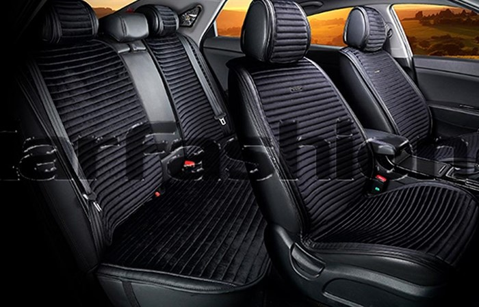 Комплект черных накидок на сиденья MONACO PLUS - фото