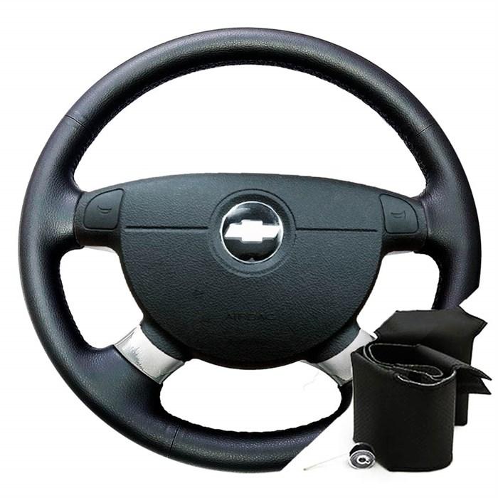 Оплетка на руль Шевроле Лачетти в коже - фото