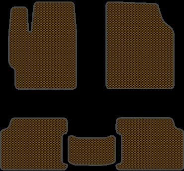 EVA коврики для Lada (Лада) коричневый