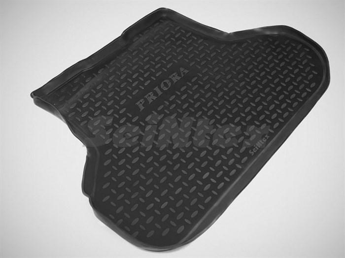 резиновый коврик в багажник Лада Приора седан - фото