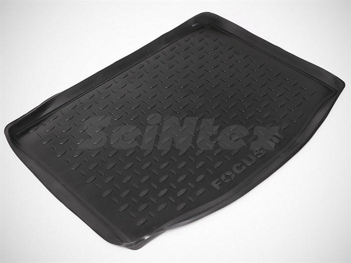 резиновый коврик в багажник Форд Фокус 3 хэтчбэк - фото