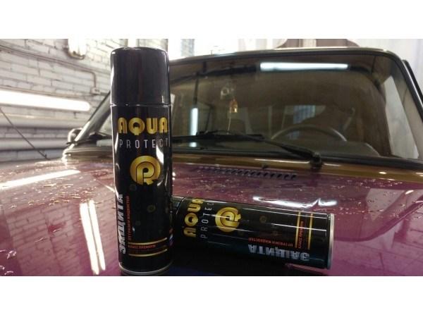 Универсальное гидрофобное покрытие спрей Aqua Protect - фото 8838