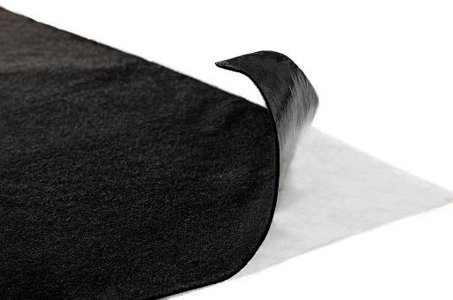 Самоклеющийся карпет черный - фото 9413