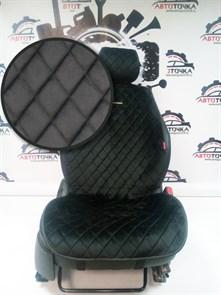 черные накидки CALIFORNIA на 2 передних сидения - фото