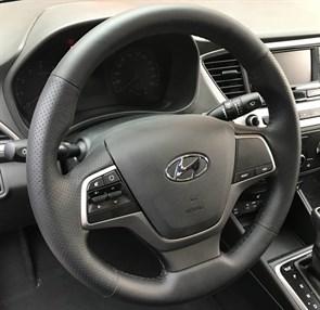 Оплетка на руль из натуральной кожи Hyundai Elantra 2015-н.в.