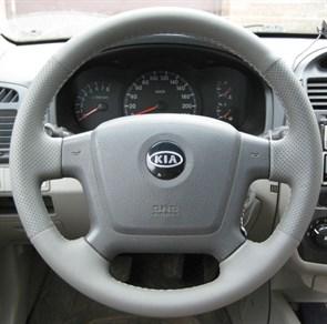 Оплетка на руль из натуральной кожи Kia Cerato I 2004-2009