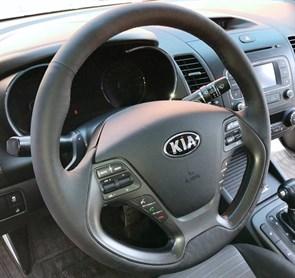 Оплетка на руль из натуральной кожи Kia Cerato III 2013-2018