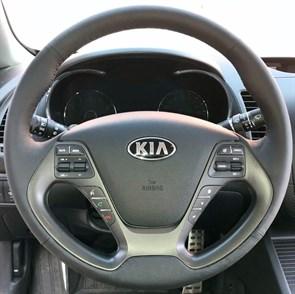Оплетка на руль из натуральной кожи Kia Rio III Рестайлинг 2015-2017