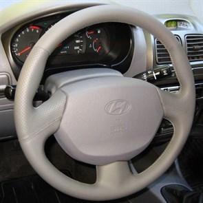Оплетка на руль из натуральной кожи Hyundai Accent с подушкой безопасности