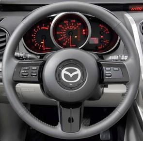 Оплетка на руль из натуральной кожи Mazda CX-7 I 2006-2009