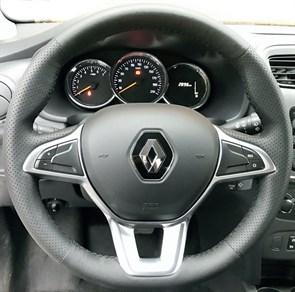 Оплетка на руль из натуральной кожи Renault Logan II (2018-н.в.)