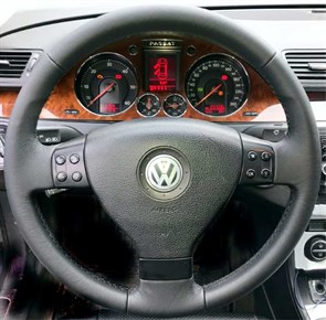 Оплетка на руль из натуральной кожи Volkswagen Golf V (2003-2009)