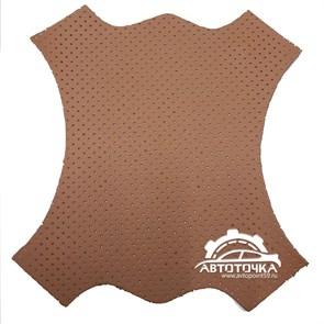 перфорированная коричневая экокожа Altona фото