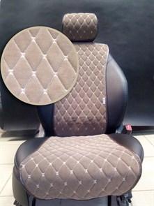коричневые накидки BULLET на 2 передних сидения - фото