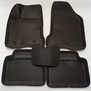 Черные ковры салона EVA 3D Lada Vesta Cross