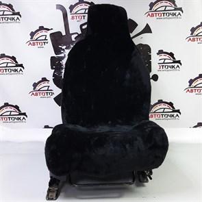 Черные меховые накидки на 2 места