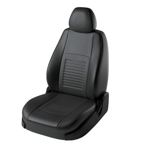фото черных чехлов Lord AutoFashion на Hyundai Solaris седан