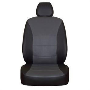 Черно-серые чехлы из экокожи для Honda Civic VIII - фото