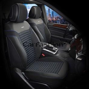 Накидки на передние сиденья Chester черный-синий