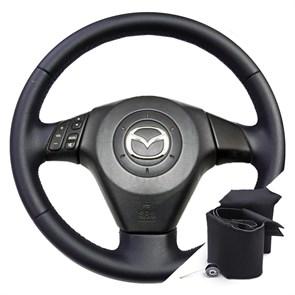 Оплетка на руле Mazda 3 BK - фото