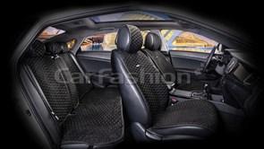 Комплект черно-серых накидок на сиденья CAPRI PRO PLUS - фото