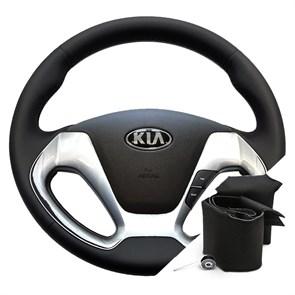 Оплетка на руле Киа Церато 3 - фото