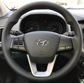 Оплетка на руль из натуральной кожи Hyundai Creta 2016 - н.в.