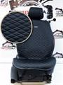 черные накидки PALERMO на 2 передних сидения - фото