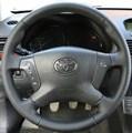 Оплетка на руль из натуральной кожи Toyota Avensis II 2003-2009 г.в. (черная) - фото 10277
